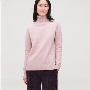 COS Lavender Cashmere Turtleneck Sweater Jumper